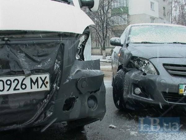Авария маршрутки в Киеве