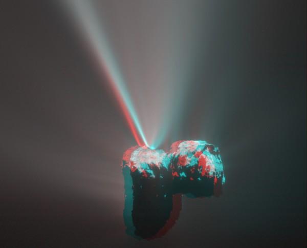 Комета в 3D
