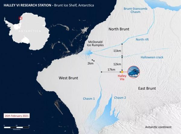 Карта ледника