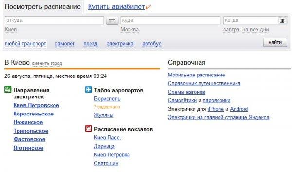 Яндекс.Расписания