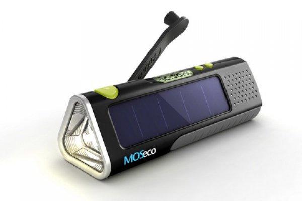 MOSeco ES905 с солнечной батарейкой и динамо-генератором