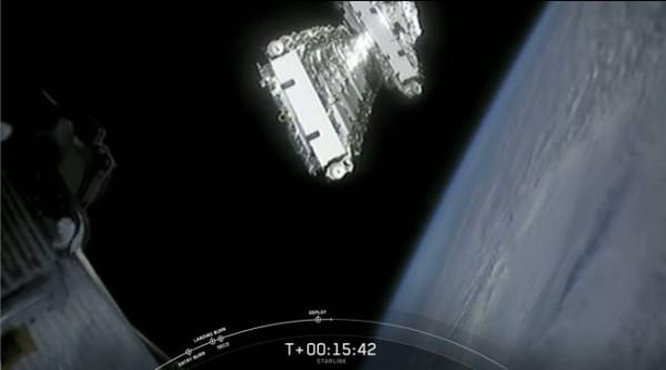 Отделение спутников на орбите