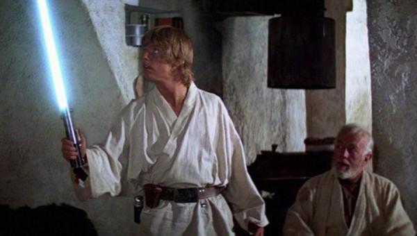 Люк Скайуокер с мечом