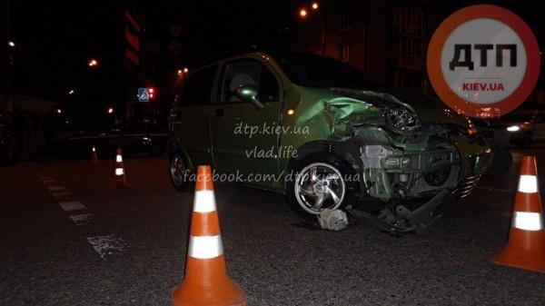 Вечерняя авария в Киеве