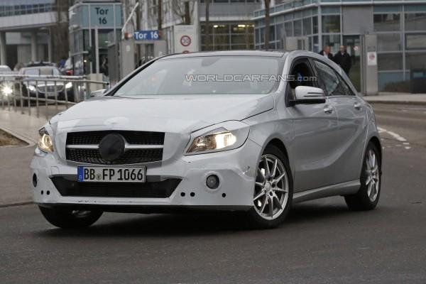 Новый Mercedes A-Class на тестах
