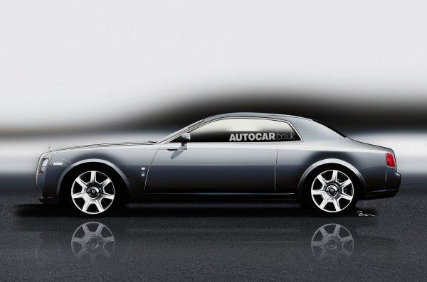 Иллюстрация спортивного купе Rolls-Royce Ghost