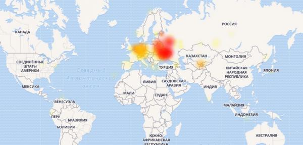 Карта сообщений о проблеме