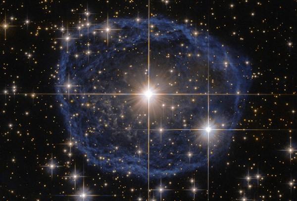 Синий пузырь в созвездии Киля