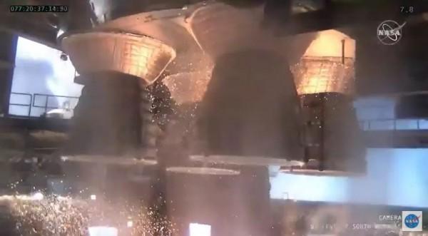 Испытание двигателя ракеты