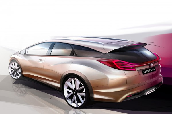 Первый универсал Honda Civic покажут в Женеве