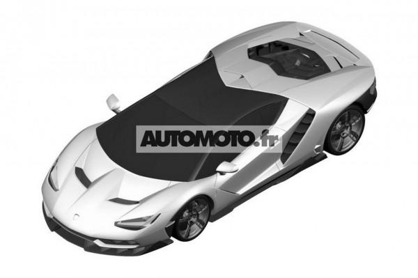Lamborghini Centenario рассекретили до премьеры