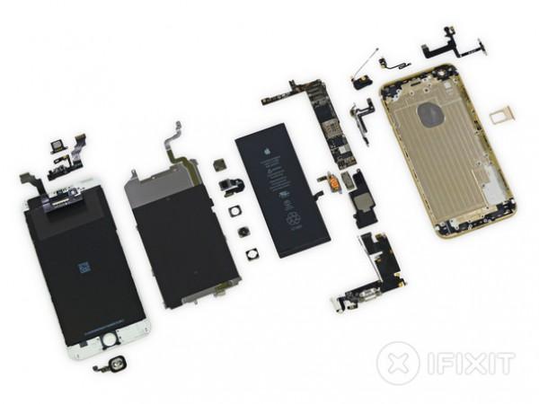 Гигант повержен! iPhone 6 Plus получает 7 из 10 баллов по простоте ремонта. Это шаг вперед по сравнению с iPhone 5s.