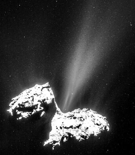 Комета начинает распускать хвост