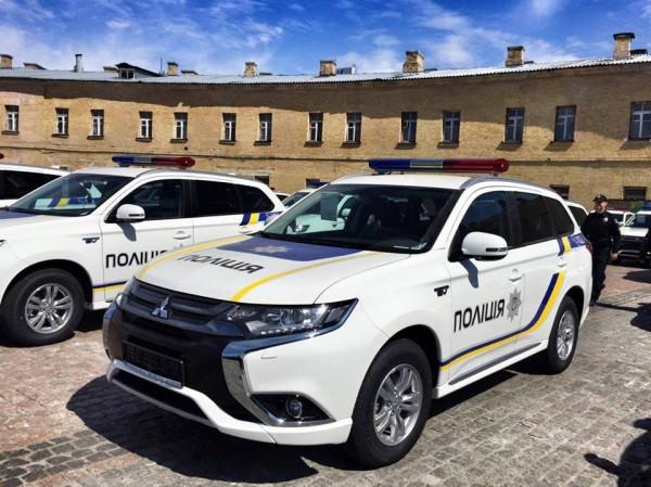 Нацполиция врамках Киотского протокола получила новые экоавтомобили Митцубиши
