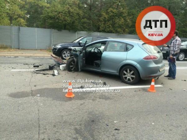 Масштабная авария под Киевом