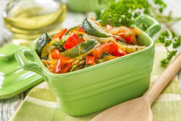 Рецепт                  Вегетарианское соте с цуккини и картофелем