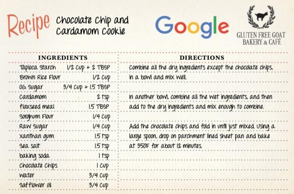 Рецепт Google