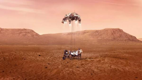 Как будет происходить посадка на Марс