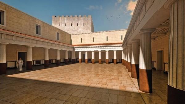 Реконструкция двора, где, возможно, проходил танец Саломеи