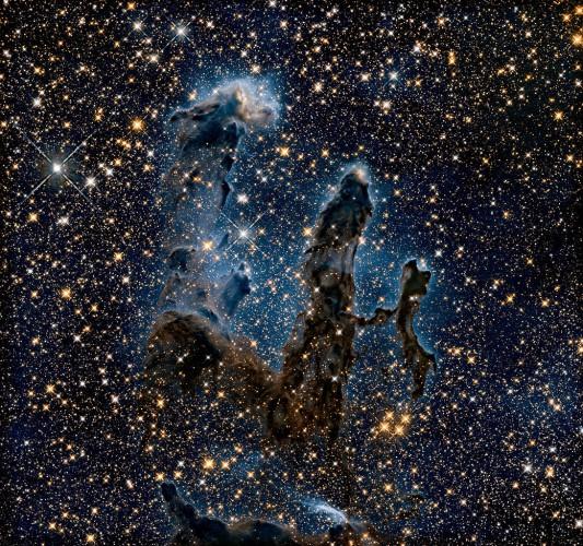 Столпы творения в инфракрасном свете