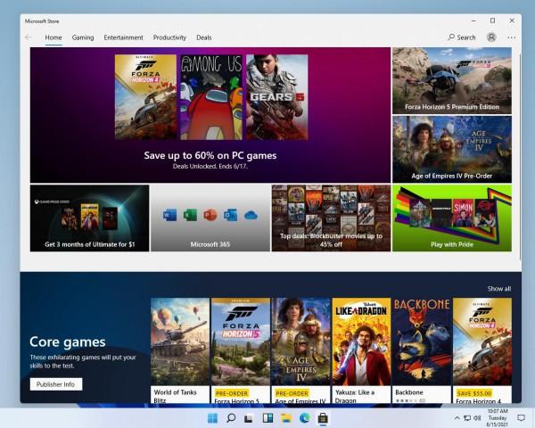 Существующий Магазин Windows в Windows 11