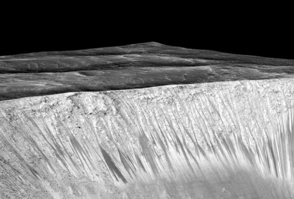 Следы воды на Марсе