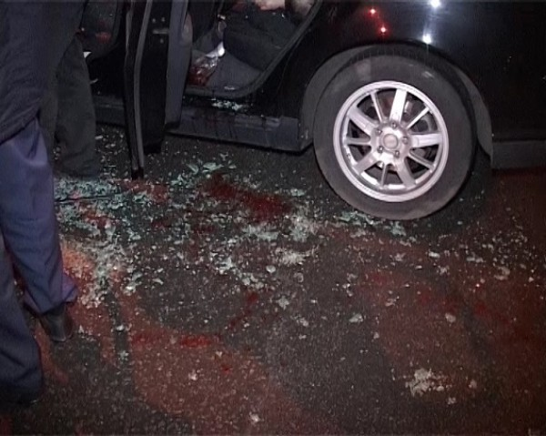 В Киеве расстреляли такси