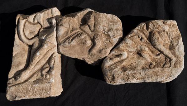 Фрагменты барельефа из найденного храма
