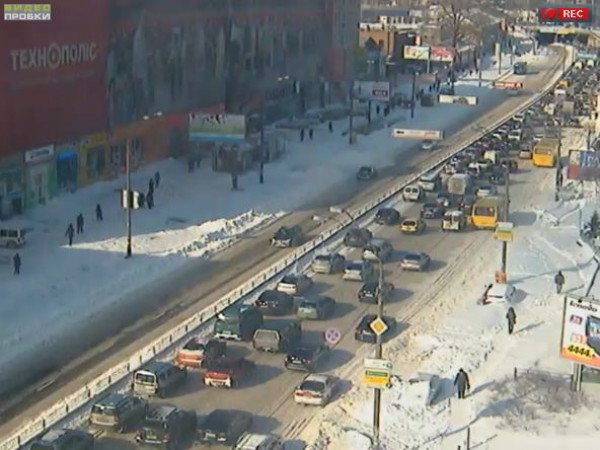 Пробки в Киеве: на Московском проспекте тянучка