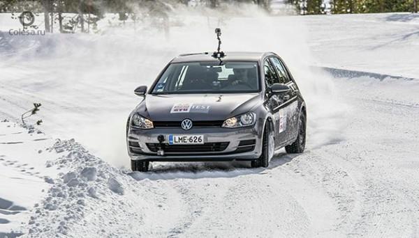 Зимнюю резину проверяли на VW Golf
