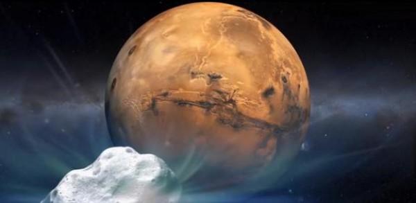 Комета благополучно пролетела возле Марса