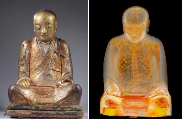 Статуя Будды скрывала мумию монаха