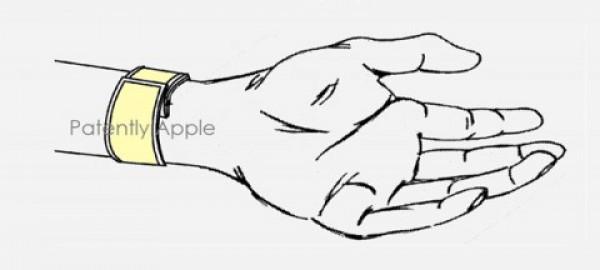Патент Apple на носимое устройство с гибким экраном
