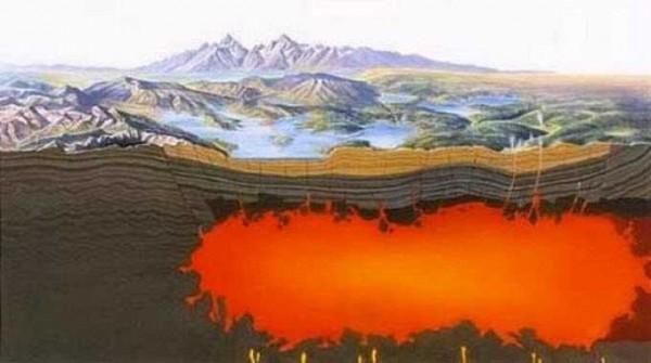 Названа причина образования углеродного моря под самым большим супервулканом