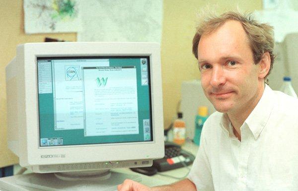 Первый графический веб-браузер и создатель WWW Тим Бернерс-Ли