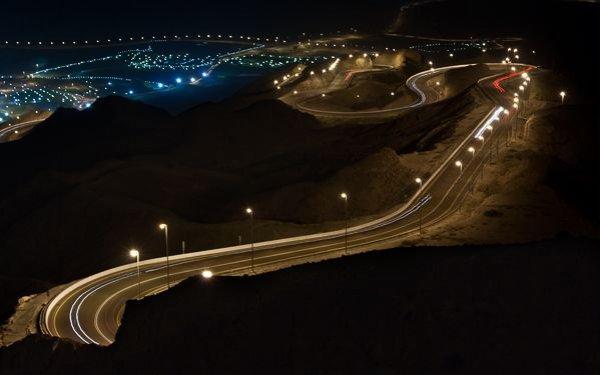 Горная дорога Jebel Hafeet в ОАЭ