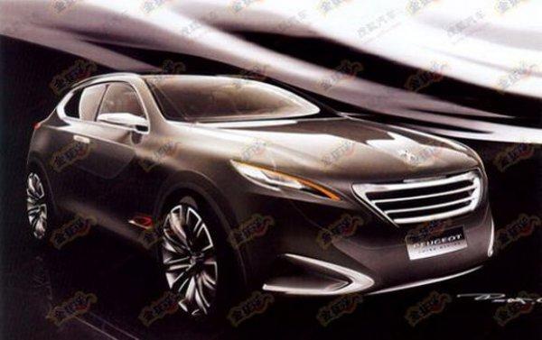 Иллюстрация концептуального кроссовера Peugeot