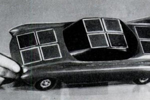 Макет автомобиля на солнечных батареях