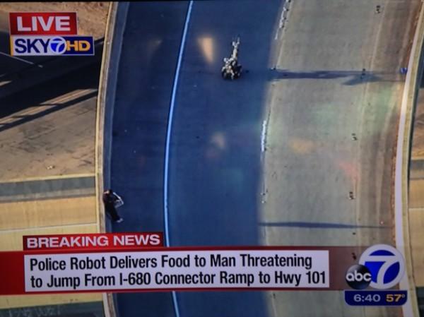 Робот уговорил самоубийцу не прыгать