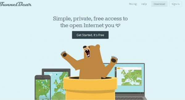 TunnelBear позволяет обойти блокировку без использования стороннего браузера