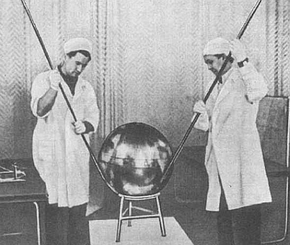 Спутник перед запуском