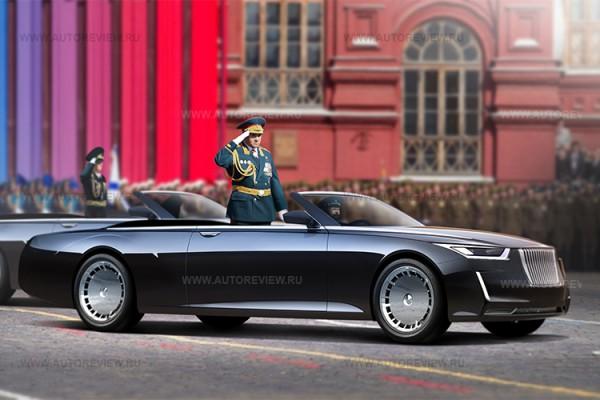 Министр обороны Сергей Шойгу, прифотошопленный на кабриолет -  парадный ЗиЛ