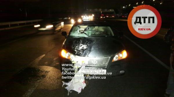 Lexus сбил пешехода