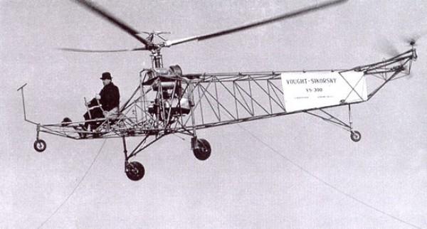 Полет вертолета VS-300