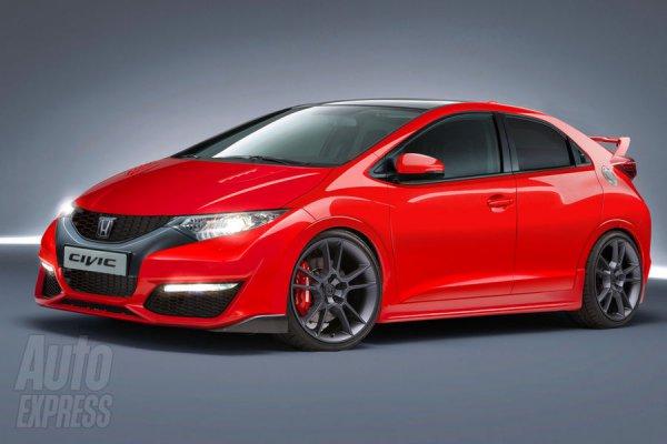 Неофициальная иллюстрация нового Honda Civic Type R