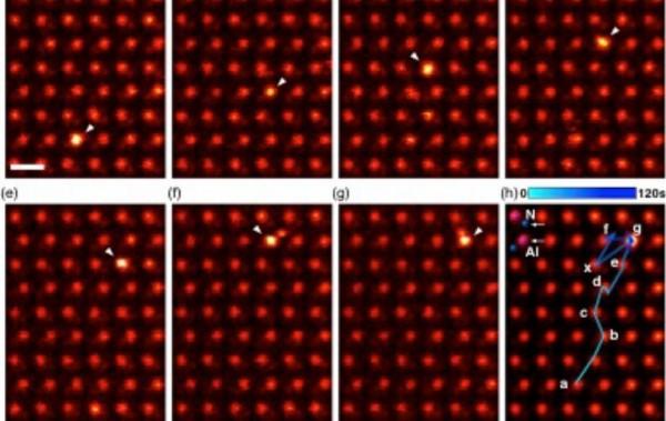 Ученые наблюдали диффузию примесей (атомов марганца и церия) в нитриде алюминия