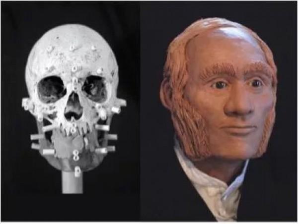 Реконструкция лица Джона Грегори, первого исследователя из катастрофической экспедиции Франклина 1845 года, чьи останки были опознаны