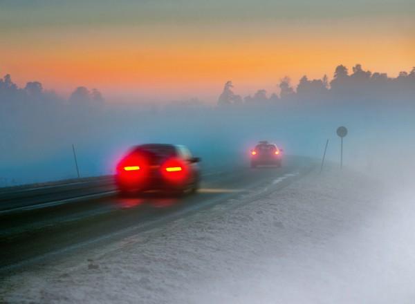 Туман стал причиной аварии