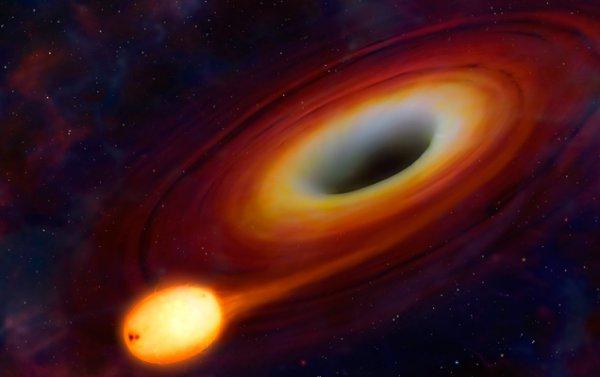 Черная дыра «съела» звезду на расстоянии 3,8 миллиарда световых лет от Земли