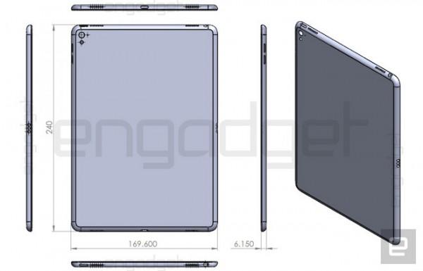 Чертеж нового iPad
